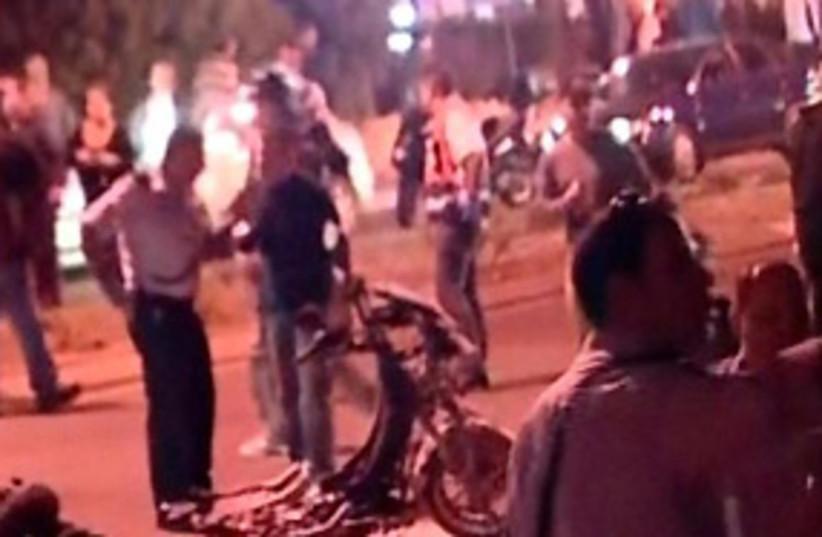 kiryat ata motorcycle bombing 311 (photo credit: Channel 10 screenshot)