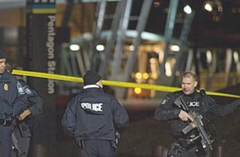 Pentagon metro station311 (photo credit: Associated Press)