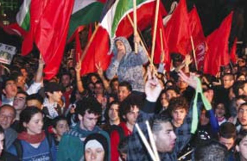 sheikh jarrah protest ariel 311 (photo credit: Ariel Jerozolimski)