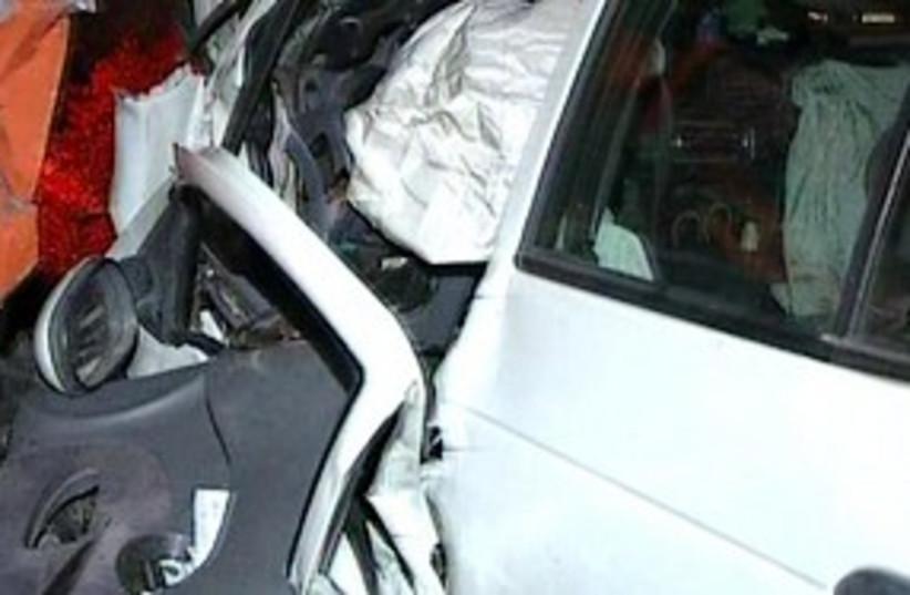 Negev car crash 311 (photo credit: Channel 2)