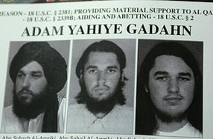 Adam Gadahn wanted Terrorist (photo credit: Associated Press)