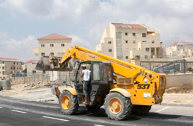 construction work in beitar illit 311 (photo credit: Ariel Jerozolimski)