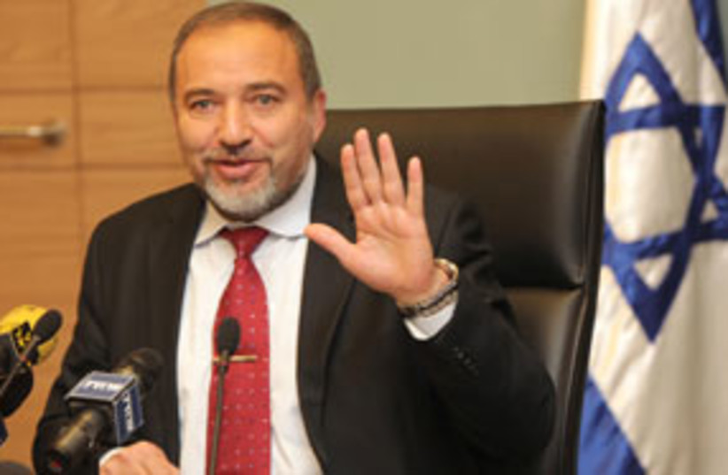 avigdor lieberman 311 (photo credit: Ariel Jerozolimski)