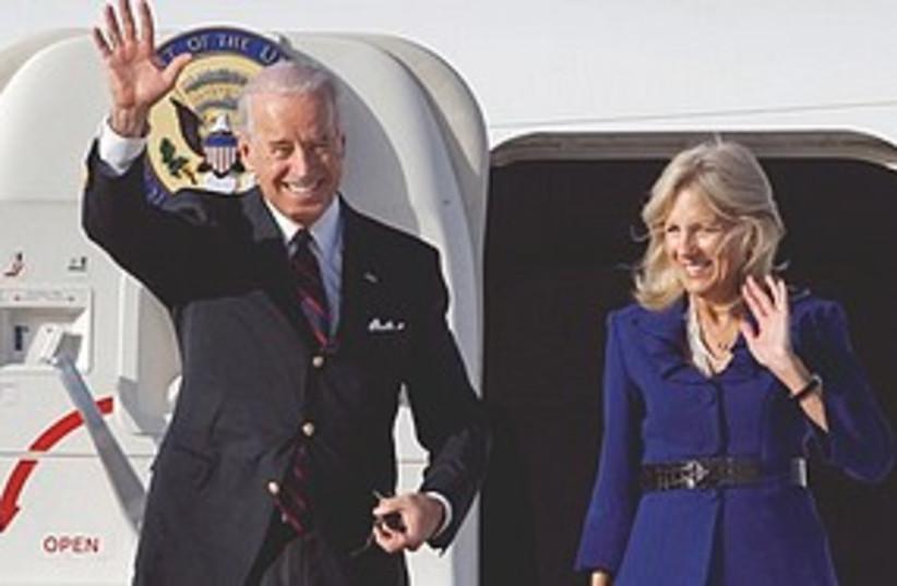 Biden arrives 311 (photo credit: Associated Press)