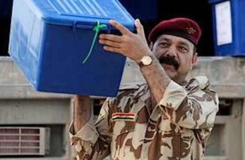 Iraqi ballot box 311 (photo credit: Associated Press)