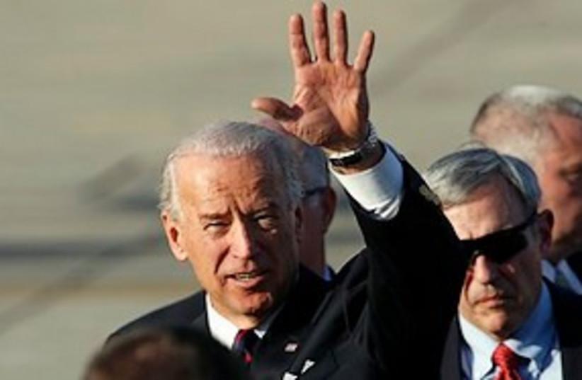 biden arrives in israel 311 ap (photo credit: AP)