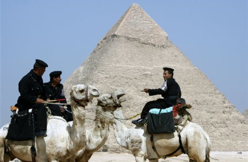 Egyptian tourism soldiers (photo credit: AP)
