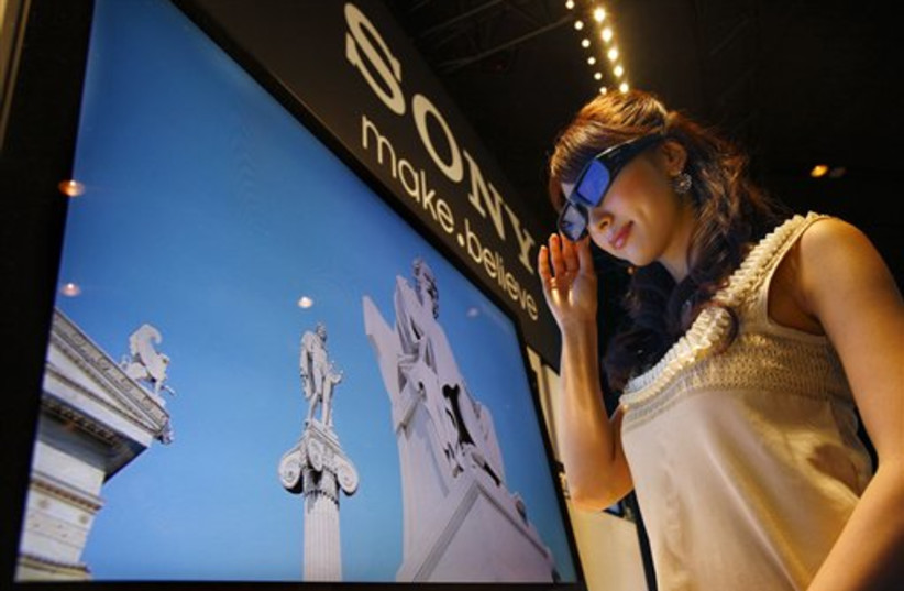 Sony's 3-D television (photo credit: AP)