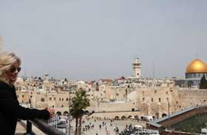 jill biden old city jerusalem 311 (photo credit: AP)