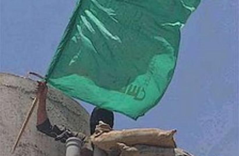 Hamas capture flag 298.8 (photo credit: AP [file])