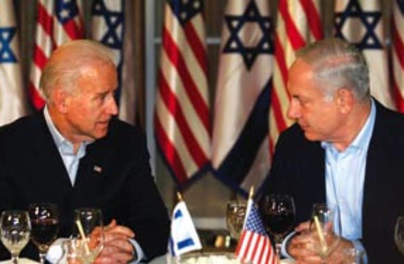 Netanyahu biden dinner 311 (photo credit: AP)