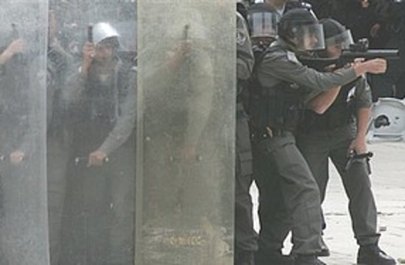Police Temple Mount clashes 311 (photo credit: Associated Press)