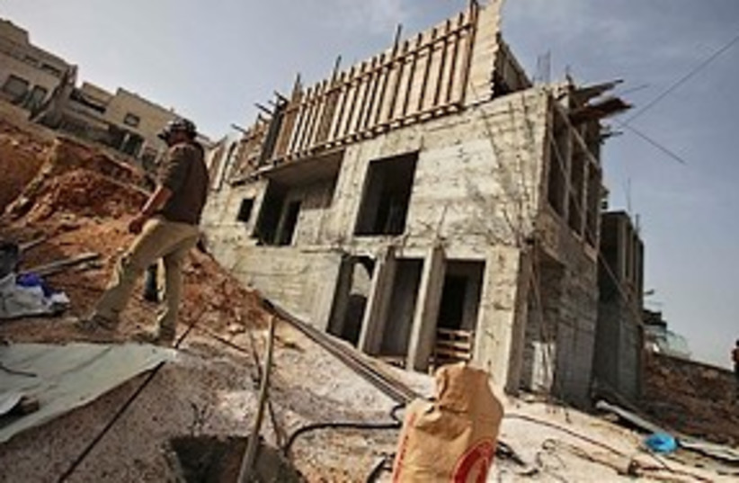 Ramat Shlomo construction 311 (photo credit: Associated Press)