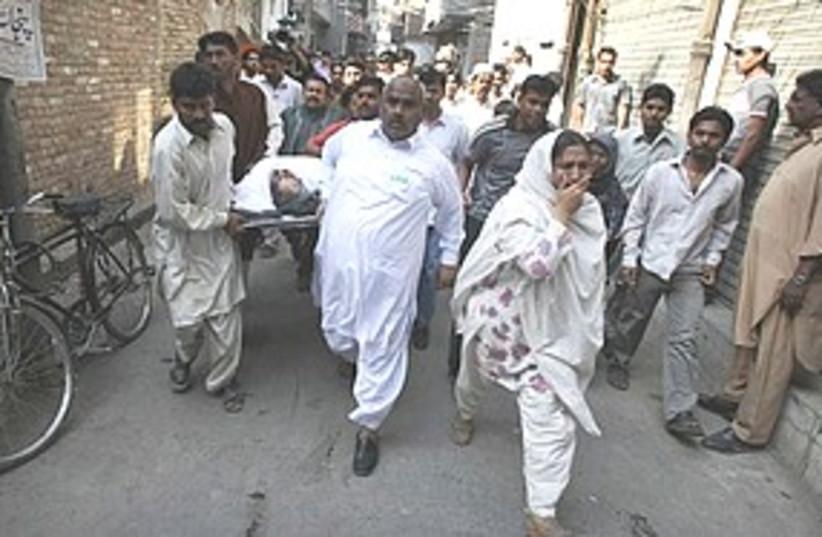 Pakistan bomb Lahore  (photo credit: Associated Press)