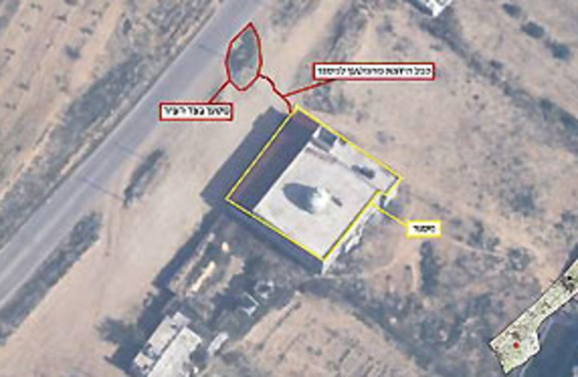 Rocket launchers Gaza hospital 311 (photo credit: Malam)