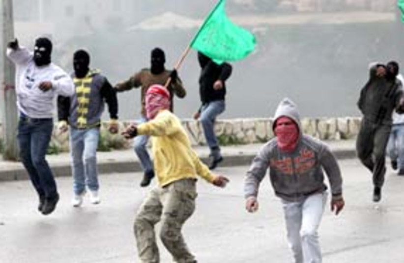 issawiya hamas flag arab riot 311 (photo credit: Ariel Jerozolimski)
