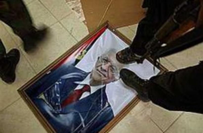 hamas step on abbas 298. (photo credit: AP)