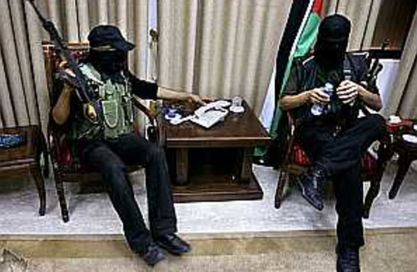 hamas abbas office (photo credit: AP)
