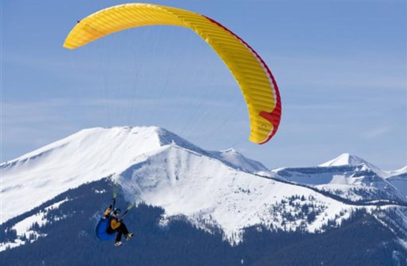 paraglider pilot (photo credit: AP)