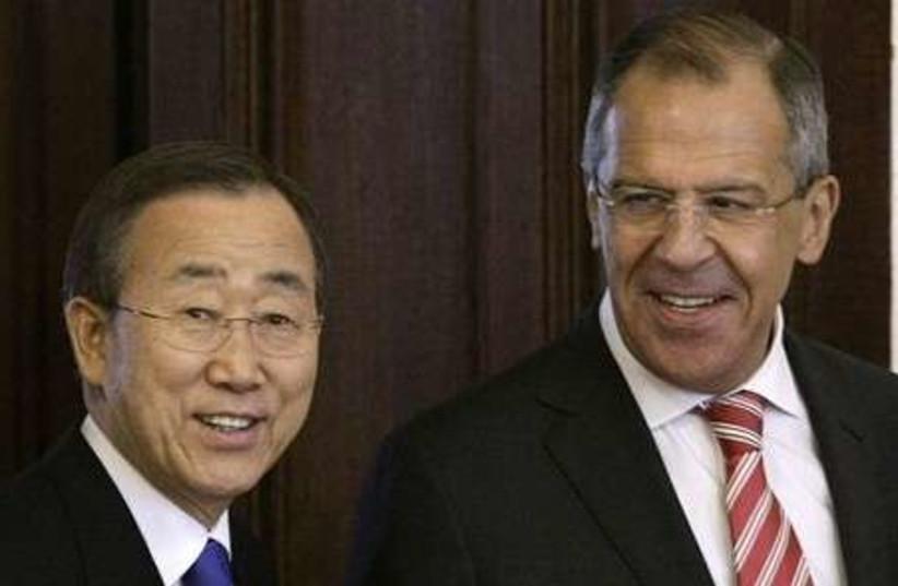 Ban Ki-moon & Lavrov 311 (photo credit: Associated Press)