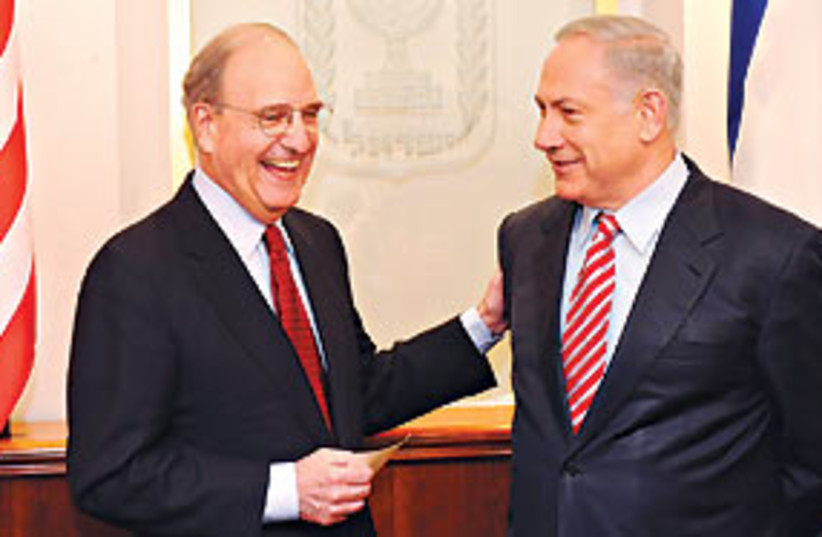 Netanyahu mitchell 311 (photo credit: GPO)