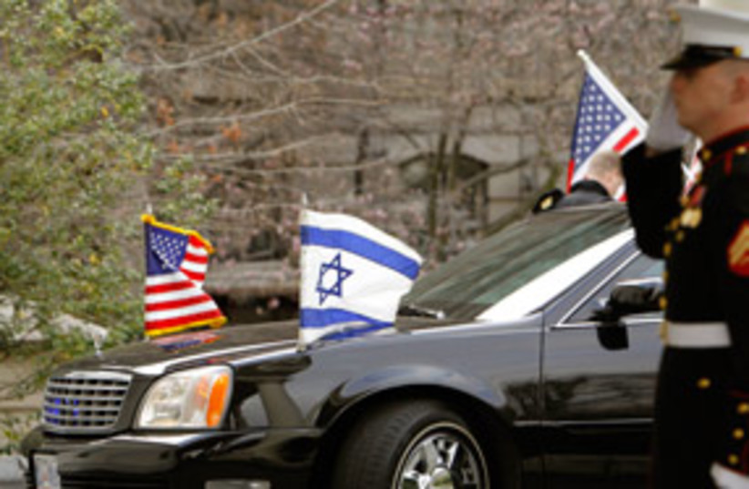 limousine us israel flags 311 (photo credit: AP)