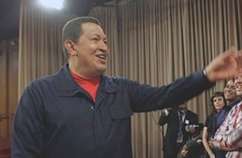 Chavez gestures 311 (photo credit: Associated Press)