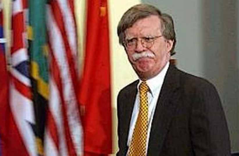John Bolton 311 (photo credit: Associated Press)