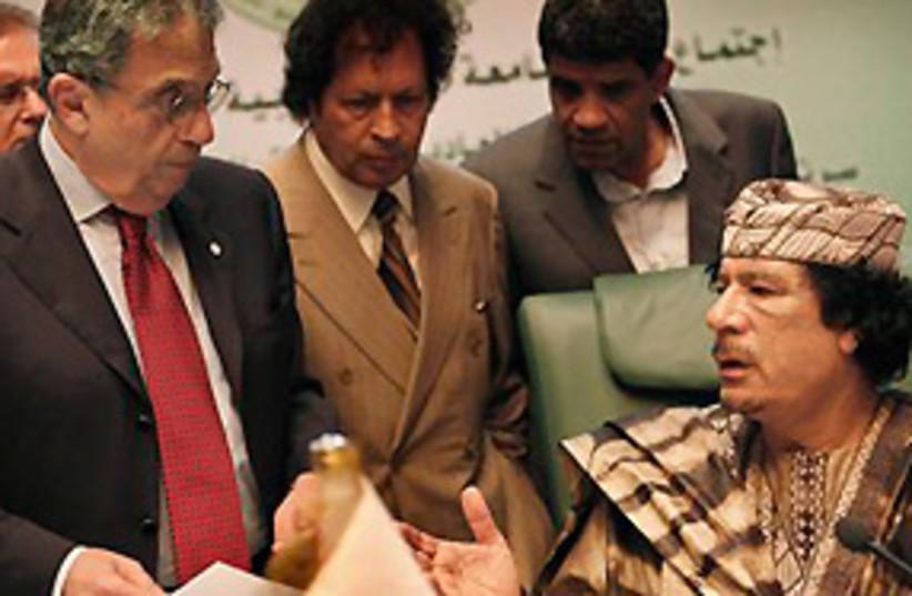 Ghaddafi Moussa 311 (photo credit: AP)