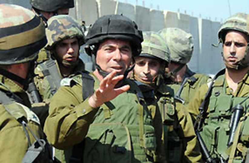Ashkenazi Uniform 311 (photo credit: IDF Spokesperson)