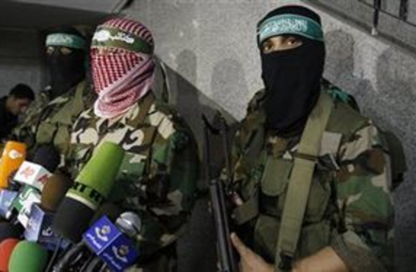 Hamas Military Wing spokesman (photo credit: ASSOCIATED PRESS)
