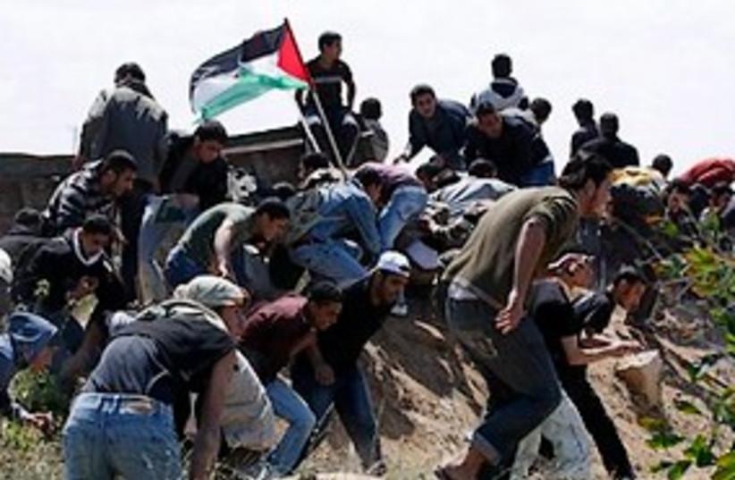 gaza strip land day protest 311 (photo credit: AP)