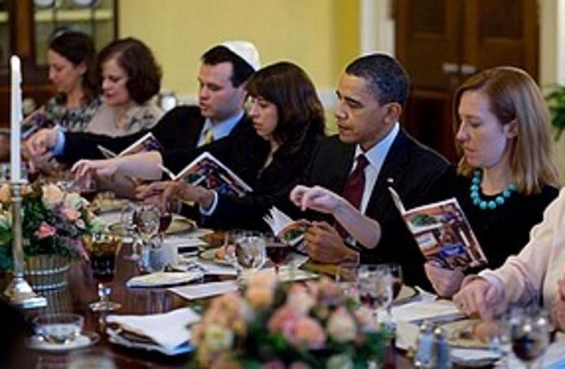 Obama seder 311 (photo credit: Associated Press)