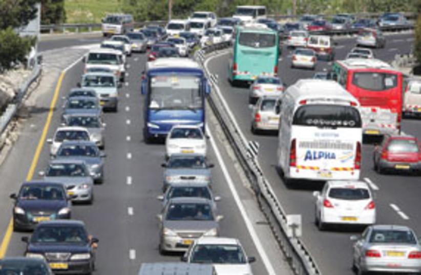 traffic jam highway 1 311 (photo credit: Ariel Jerozolimski)