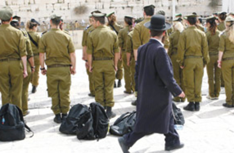 soldiers haredi 311 (photo credit: Ariel Jerozolimski)