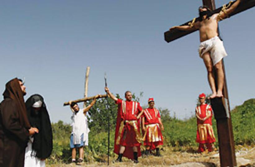 lebanese reenacting jesus 311 (photo credit: AP)