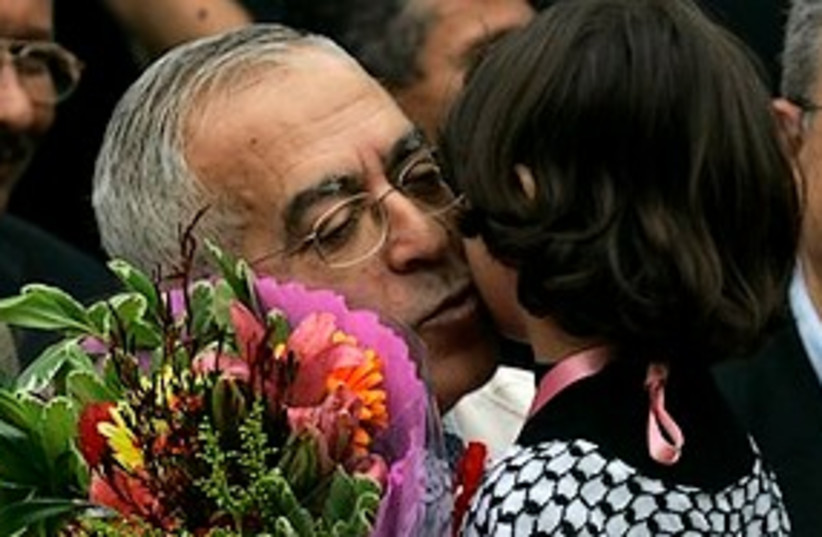 Fayyad likes little girls 311 (photo credit: Associated Press)
