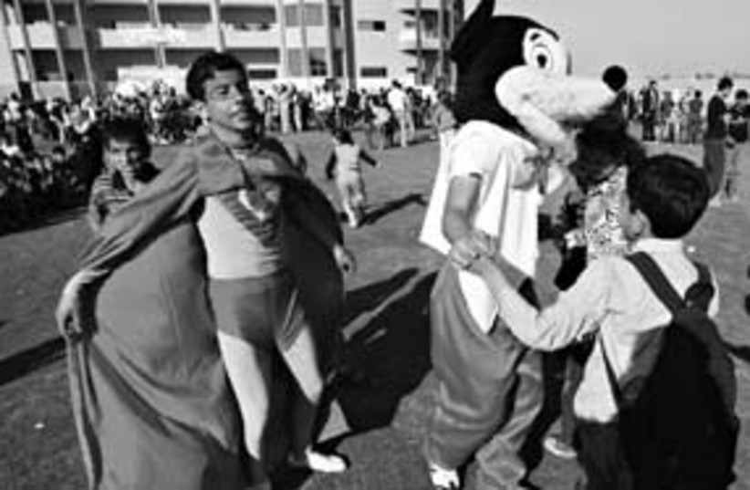 Gaza kids on palestinian childrens day311 (photo credit: Adel Hana)