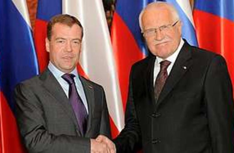 Medvedev Klaus 311 (photo credit: Associated Press)