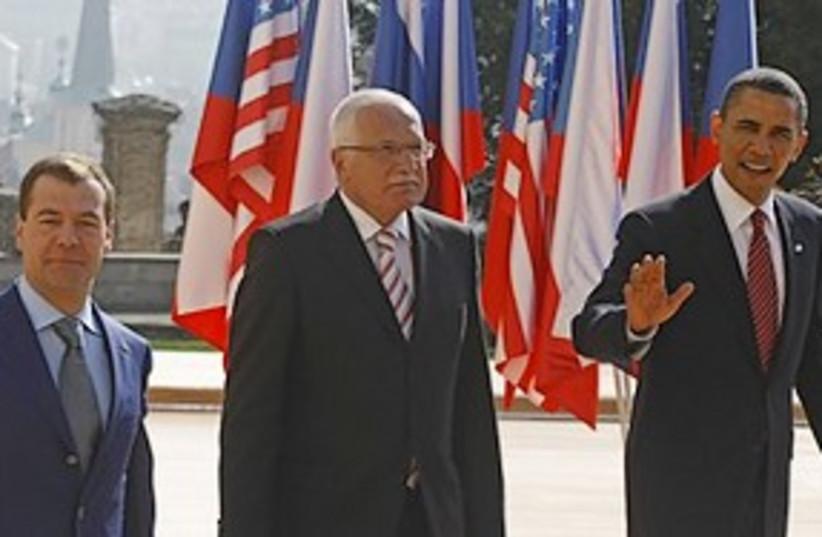 obama medvedev prague 311 (photo credit: AP)