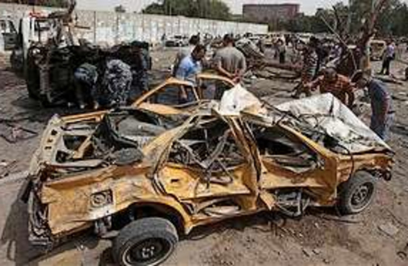 Baghdad bombed car 311 (photo credit: Associated Press [File])