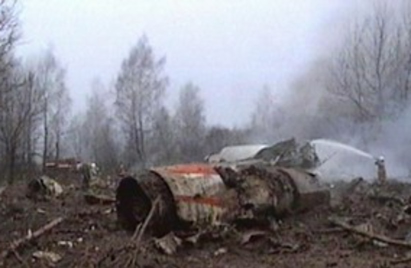 Kaczynski poland plane crash 311 (photo credit: Associated Press)