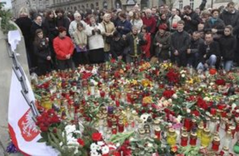 Kaczynski remembered (photo credit: ASSOCIATED PRESS)