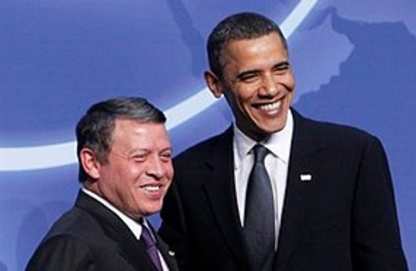 Obama Jordan's King Abdullah 311 (photo credit: Associated Press)