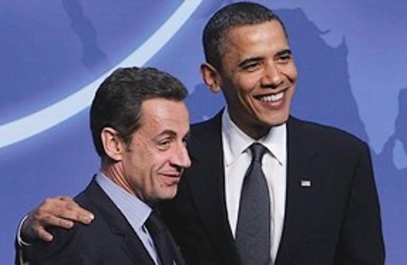 Sarkozy Obama nuke Summit 311 (photo credit: Associated Press)