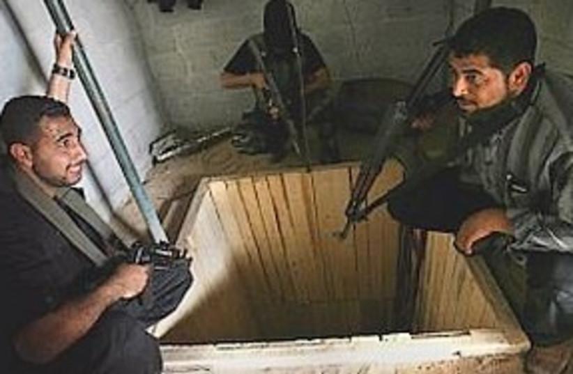 Gaza smuggling tunnel 311 (photo credit: AP)
