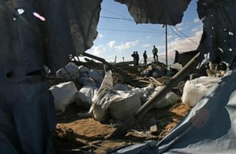 Gaza tunnel destroyed 311 (photo credit: Associated Press)