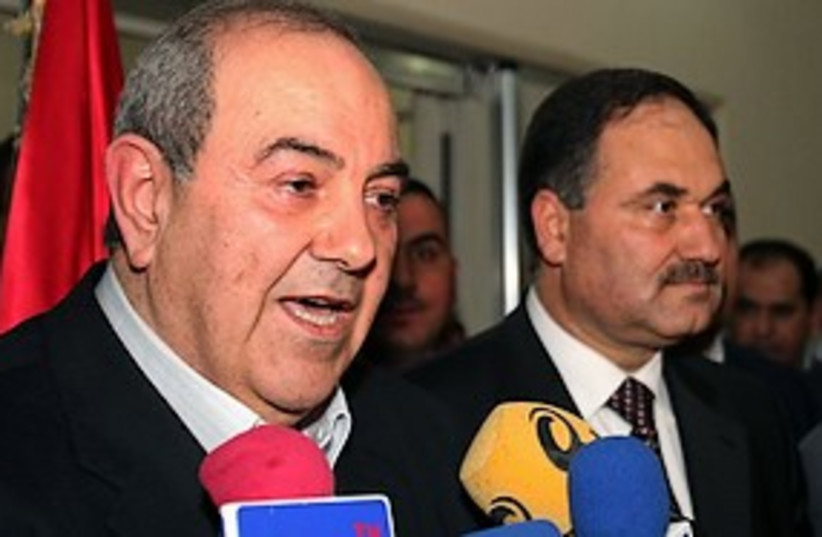 Ayad Allawi 311 (photo credit: Associated Press)