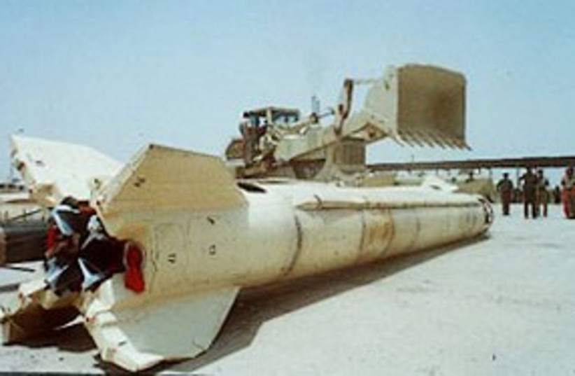 Scud missile (photo credit: AP)