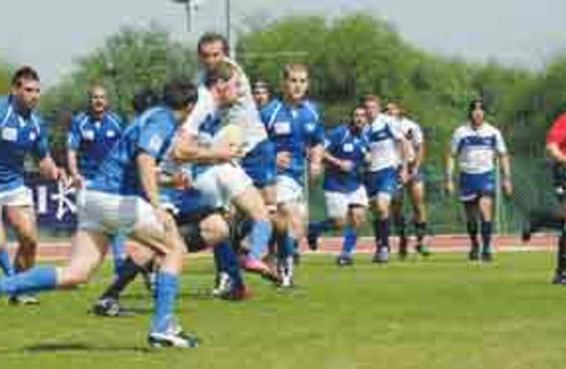 Israeli National Rugby Team311 (photo credit: Roy Kamiel/IRU)